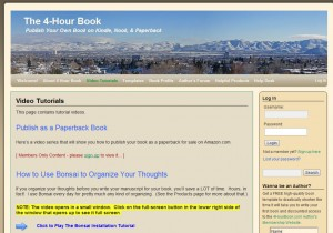 4HourBook.com Tutorial Page